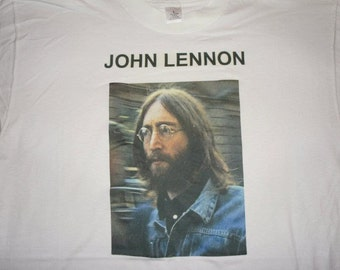 "John Lennon tshirt size:   ""Big"" Large (read description)"