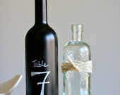 Chalkboard Paint Wine Bottle (1 Bottle) - With customized wording and protective sealant