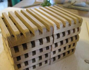 "Soap deck, Soap saver. Ten all natural western red cedar. 2 3/4"" x 3 3/4"""