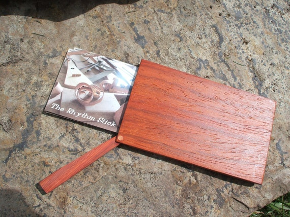 "Business Card case, made of padauk, executive style, only 5/16"" thick"