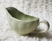 Grindley sage green sauce jug