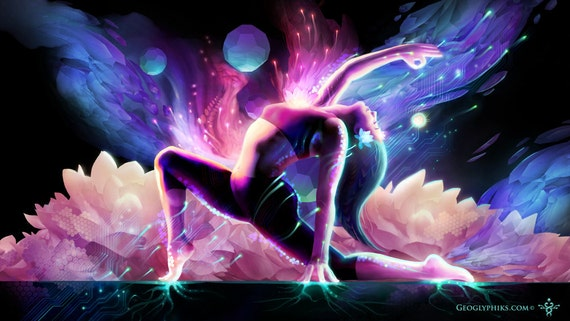 """Yin Salutation - 24""""x14"""" - Limited Edition Giclee Canvas"""