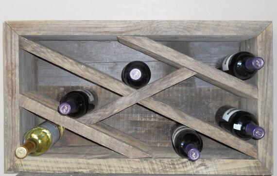 RESERVED for Robert Gage       Reclaimed Barnwood Wine Rack