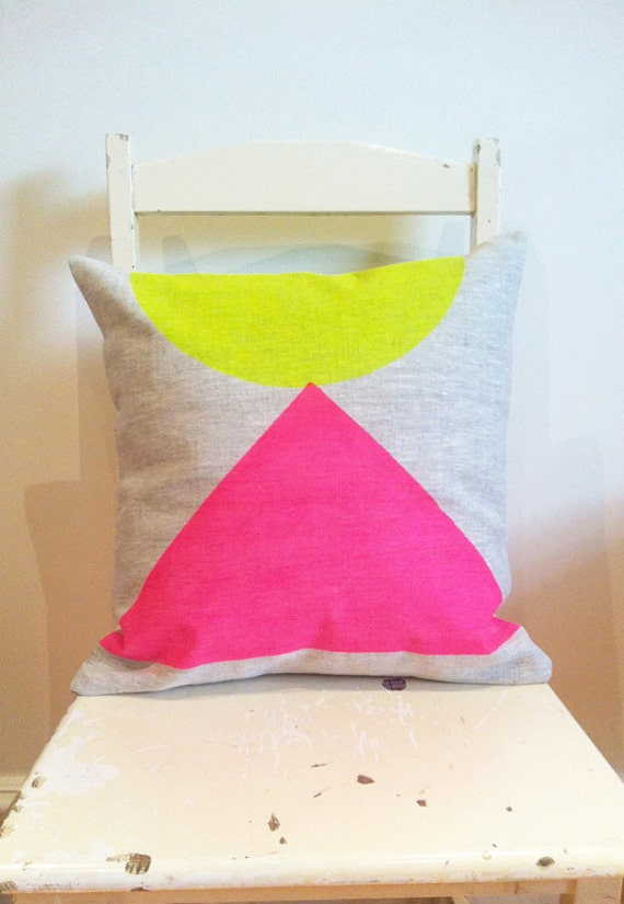 Egyptian Neon - Cover only - Wildly comfortably throw cushion in neon pink and yellow, for your home.