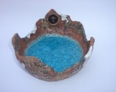 Large Christian Sculptured Bowl - something different.