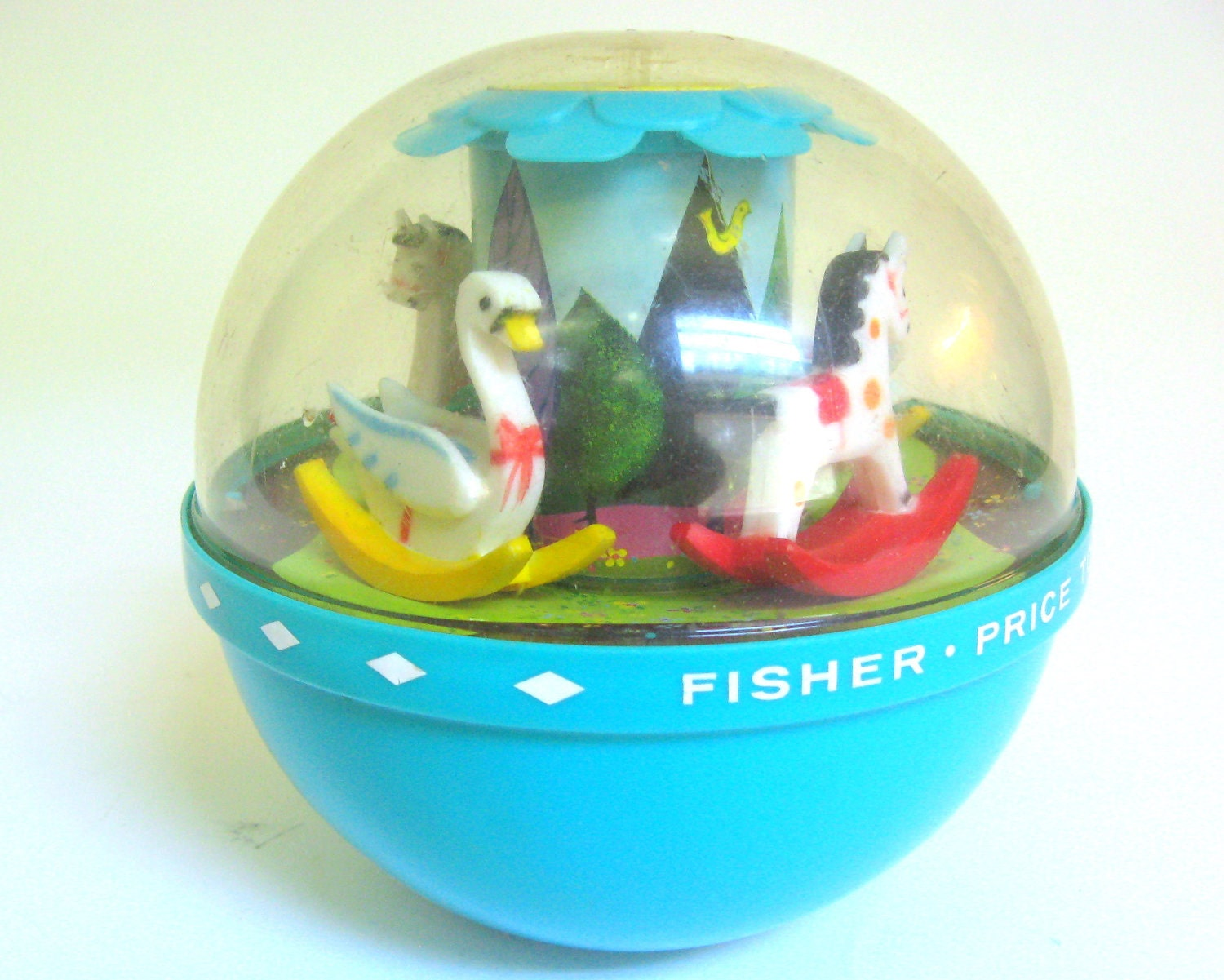 Vintage Fisher Price Toy 1966 Roly Poly Chime Ball for Baby