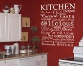 Kitchen, The Love of Food - Subway Art Wall Word Decal Art