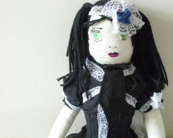 Gothic Lolita Doll - Victorian Doll - Porcelain Skin Doll - EGL