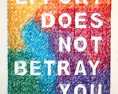 """String Art: """"Effort Does Not Betray You"""""""