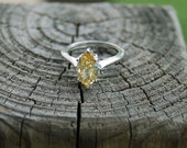 Yellow Ice Gemstone Ring Size 9