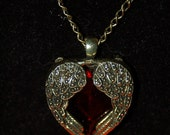 Red Heart  Beaded Necklace