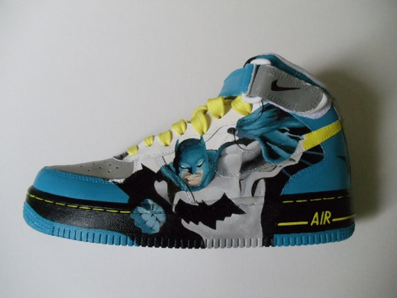 Custom Painted Batman Shoes - (Nike Air Force Ones)