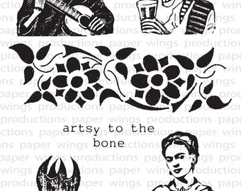Muertos Clear Rubber Stamp Set