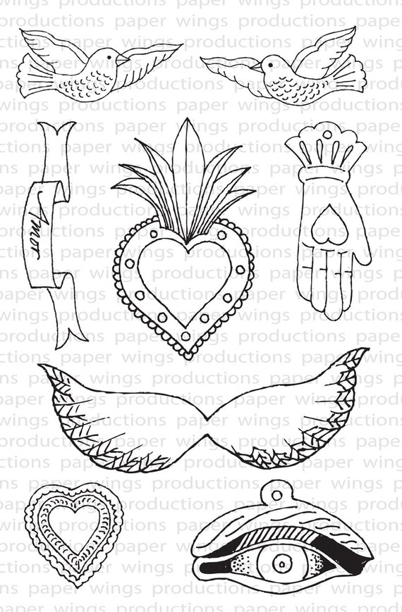 Milagros Clear Rubber Stamp Set
