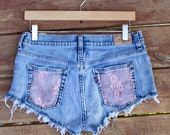 Vintage Levi's with Pink Lace Detail