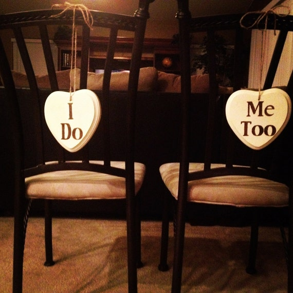 Engagement or Wedding Picture Props - Custom Crackle Wooden Hearts