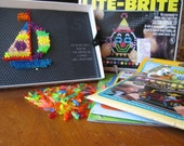 1981 Hasbro Lite-Brite (includes Pegs and 2 Refill Packs)