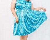 Plus Size Vintage Malibu Polka Dot Dress