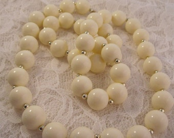 Perfect white beaded necklace