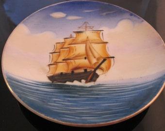 Collectible galleon curio plate