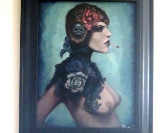 Nadine: Fetish Series. A Reese Hilburn (RockabillyReese) Original Oil Painting.