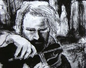 """The violin player - 5"""" x 7"""" Open edition giclee print (Series of details, studies and sketchbook work)"""