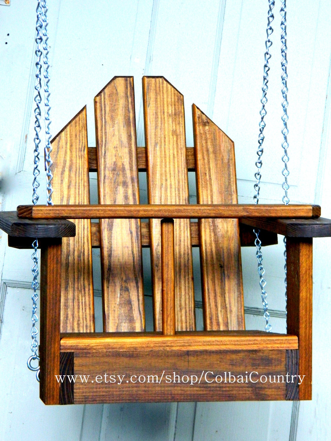 Kid Toddler Child Tree Or Porch Wooden Swing Or By