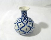 Asian Inspired Hand Painted Vase by Strata Group