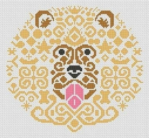 Lion Cross Stitch Pattern by White Willow Stitching - Lion Cross Stitch - Lion - Cross Stitch - Lion Pattern - Cross Stitch Pattern
