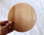 Wooden plate 13.5 cm 5,31 inch unfinished natural eco friendly