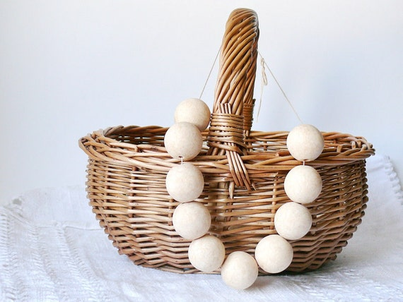 27 mm Wooden beads 10 pcs - natural eco friendly r27mm