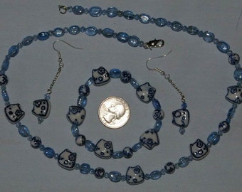 Necklace, Earrings & Bracelet Set - 0093