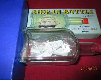 Ship in a Bottle made by Davis