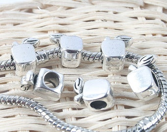 26pcs antiqued silver two sides apple spacer beads G1315