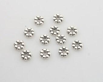 200pcs Tibetan Silve daisy Spacer bead Findings X0211