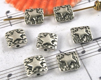 60pcs antiqued silver star spacer beads G1182