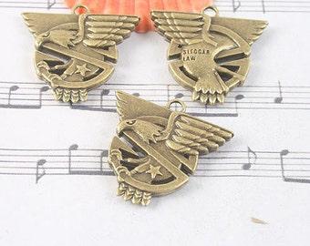 4pcs antiqued bronze eagle design pendant charm G1063