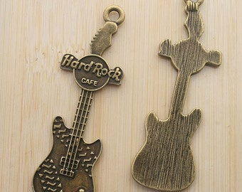 6pcs antiqued bronze music instrument pendant charm G572