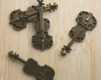 16pcs antiqued bronze music instrument charm G575