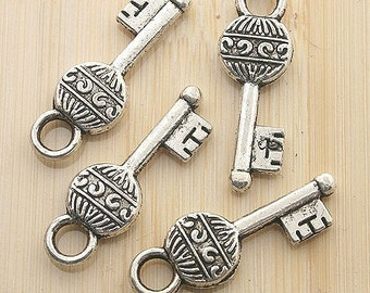 15pcs 27x9mm Antique silver magic key charm pendants G9
