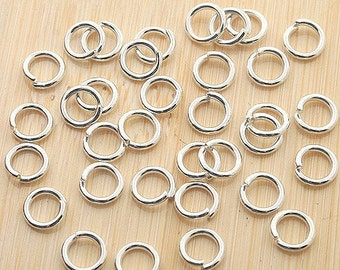 100pcs 5mm Silver Plated Jump rings G15