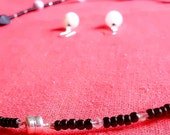 Sale ENDS 5/19. Ebony & Ivory Necklace and Matching Earrings. Ships FREE in 24 hours