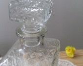 Short Textured Glass Decanter