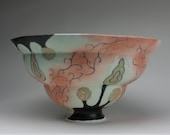 large patterned punch bowl