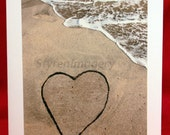 Beach Heart Notecard 2
