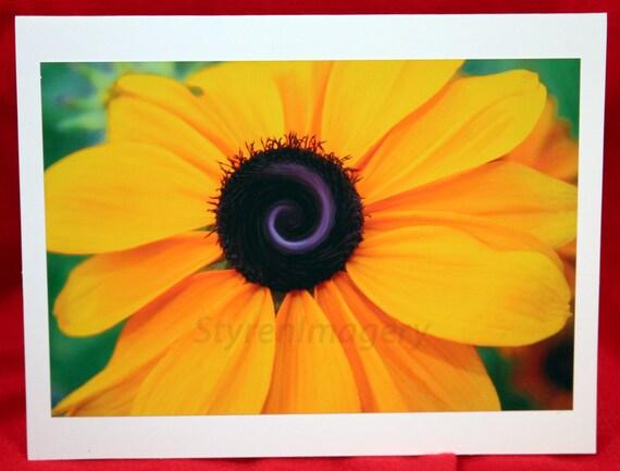 Yellow Swirly Flower Notecard