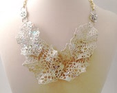Contessa Della Reina: Couture-Inspired Bib Necklace High-Fashion Gala Stand-Out Statement Necklace Piece