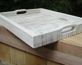 Large White Serving Tray from Reclaimed Wood