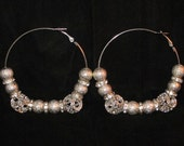 NEW Diva Jewels Basketball Wives Silver Ice Cube Bling Hoop Poparazzi Earrings