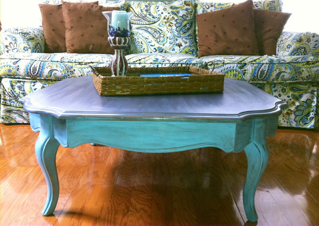 Hand painted coffee table 39 put your feet up in paris 39 for Coffee tables you can put photos in